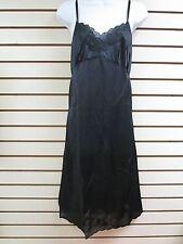 Contessa Black Nylon Lace Trim Full Slip - Size 34 - NEW  Style 7521