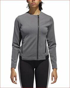 new ADIDAS women tailored jacket full zip track top DT3536 grey sz XL MSRP