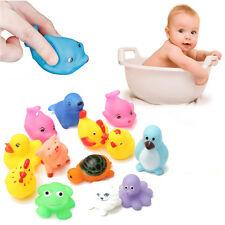 13pcs Cute Baby Bath Toys Squeaky Floating Animal Rubber Slush Toy Children Kids