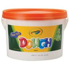 Crayola 57-0015-036 Dough 3-lb Bucket Orange Soft Texture And Vivid Colors New