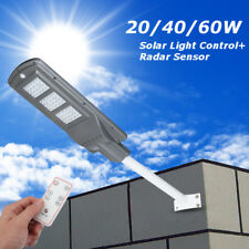 20W 60W LED Solar Motion Sensor Light Activated Wall Path Street Light Outdoor