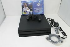 SONY PLAYSTATION 4 PRO PS4 PRO CONSOLE IN BLACK+ 1X CONTROLLER + FIFA 18 GAME