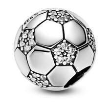 💎🎀 STERLING SILVER 925 FOOTBALL CHARM & POUCH