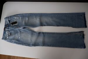 """Juicy Couture Black Label Womens Bootcut Distressed Jeans W26"""" L34"""" Stonewash"""