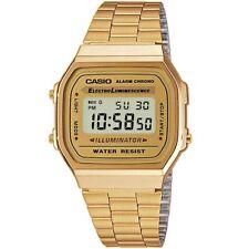 Casio reloj a168wg-9ef retro reloj digital reloj de pulsera caballero mujer dorado nuevo & OVP
