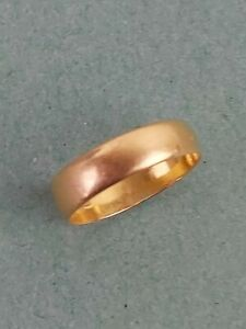 Antique 22 Carat Gold Fully Hallmarked Solid Wedding Ring Size N  2.15g