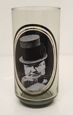 Vintage 70s W.C. Fields Actor Glass Drinking Cup Tumbler Arby's Collector Series