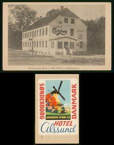 Mayfairstamps Denmark Tromashus Kro Haderslev Postcard With Windmill Label wwp79
