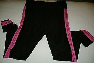 No Boundaries Juniors Super Soft Side Stripe Ankle Leggings X-LARGE (15-17) Pink