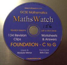 MathsWatch Foundation GCSE Revision Maths DVD Videos & Worksheets