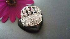 SOLID 925 STERLING SILVER ZIRCONIA RING MADE IN ITALY SIZE US 6.5 AU M
