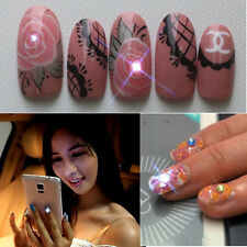 NFC nail art LED flashing light sticker with 17 decorative nail art stickers EW