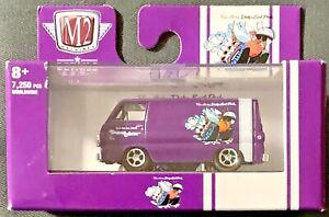 M2 Machines 2021 Dodge Fever 1964 Dodge A100 Panel Van #R66 1:64 Scale Diecast