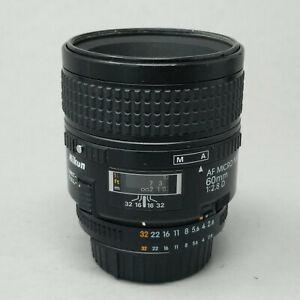 Nikon Nikkor AF 60mm f2.8 D Micro Lens 60/2.8 Prime Lens