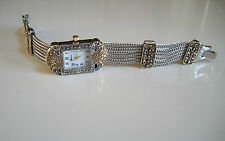 Vintage Look Bracelet Marcasite Antique  Special Occasion Silver/ Gold Watch