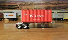 ATHEARN RTR 20' K-LINE CHASSIS & 20' A-LINE BOX CONTAINER KKLZ KKTU