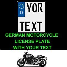 Customized MOTORCYCLE MOTORBIKE Personalized European Euro license plate German