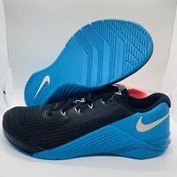 Nike Metcon 5 Cross Training Shoes Black/Blue Mens Size:10.5 AQ1189-040