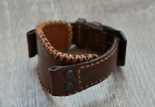 Men's Watch Brown Sititching Handmade Genuine Leather Strap Band