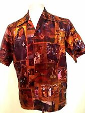 1960`S ROSS SUTHERLAND 100%  SILK GAUGUIN ARTIST HONOLULU HAWAII SHIRT LARGE
