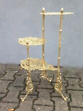 Flower Stand Brass Classic Table 28 5/16x18 1/2in Art Nouveau Baroque Italy