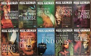 Sandman graphic novel/TPB lot set run #1-10 COMPLETE - Neil Gaiman - Vertigo