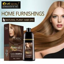 Natural Oil Organic Permanent Brown Hair Dye Long Lasting Argan Shampoo 500ml