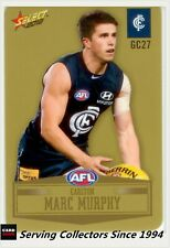 2012 SELECT AFL CHAMPIONS PEELED GOLD PARALLEL CARD GC27 MARC MURPHY-CARLTON
