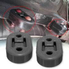 2x Universal Exhaust Mount Repair Hanger Bracket Heavy Duty Rubber Replacement