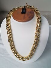 Gold Plated Herringbone Link Necklace 1Ar by UnoAerre - 18Kt