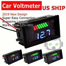 12V-60V Car Marine Motorcycle LEDs Digital Voltmeter Voltage Meter Battery Gauge