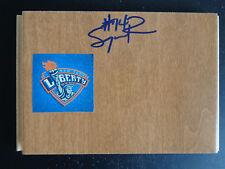 SUGAR RODGERS Signed WNBA Floor Tile NEW YORK LIBERTY Basketball GEORGETOWN