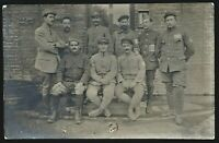 WW1 P.O.W. SOLDIERS QUARTERS PRISONERS CAMP WAR ANTIQUE PHOTO RPPC POSTCARD
