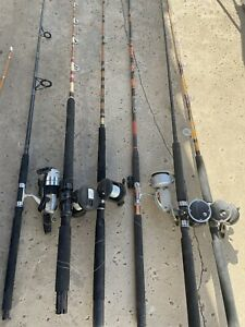 GREAT LOT OF FISHING. 12 RODS. 10 REELS. Speargun