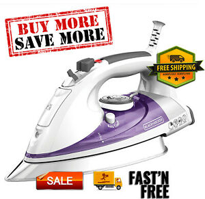 Professional Steam Iron with Extra Large Soleplate, 3-Way Auto Shutoff,Purple