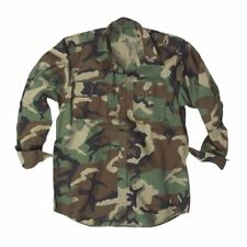 Camouflage Combat Shirt Military Army Style Durable Long Sleeve Ripstop Camo