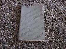 1975 MERCURY MONTEGO, MX, VILLAGER OWNERS GUIDE MANUAL ORIGINAL OEM