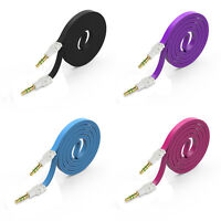 3.5mm Colorful Stereo Auxiliary Cable Male to Male Flat Audio Music Aux Cord