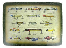 Rivers Edge Tempered Glass Cutting Board - Fishing Lures #737