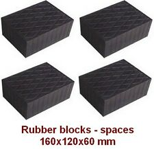 4 pcs Universal Scissor Lift Pads - 160 x 120 x 60 mm- Ramp Rubber Blocks-spaces