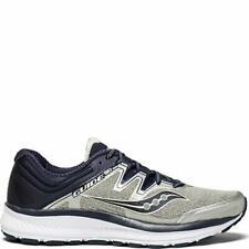 Saucony Men's Guide Iso Running Shoe, Grey/Navy, 15 D(M) Us