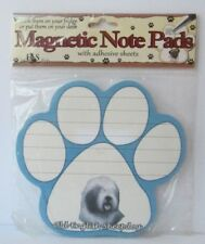 Old English Sheepdog Dog Magnetic Note Pad With Adhesive Sheets