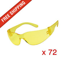 72 x Amber Yellow Safety Glasses Eye Protection PPE Australian Standards