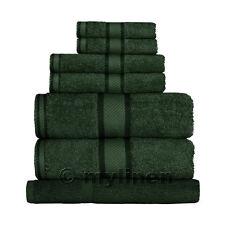 Forest Green 100% Cotton Towel Range Sets or Pcs Bath Sheet Towel Hand Face Mat