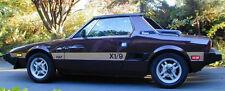 New 1974-1987 Fiat Bertone X1/9 OEM Solid Side Body Rally Stripe Kit X19