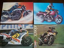 6 Postcards With Motorbikes From 90s