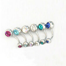 New Currents Piercing x 12pcs Set Double Gems Balls Navel Belly Button Ring