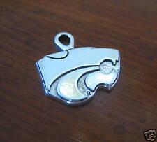 new! SILVER WILDCAT CHARM Kansas State University Wildcats bracelet bead jewelry