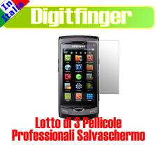 3 PEZZI PELLICOLA LCD ANTIRIFLESSO X SAMSUNG S8500 WAVE