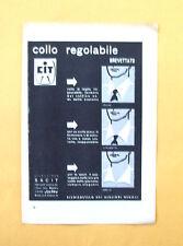 D012 - Advertising Pubblicità - 1953 - COLLO REGOLABILE CIT SACIT